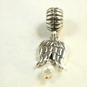 Pandora  Guardian Angel dangle pearl charm